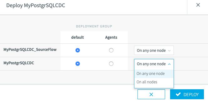 Deployment node selection