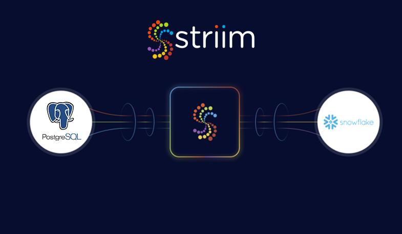 postgres to snowflake migration with striim